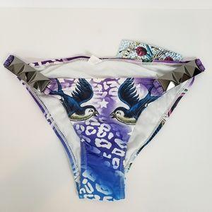 Sinful by Affliction purple rhinestone bikini